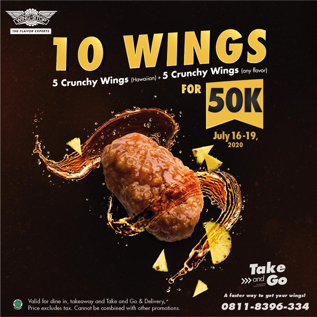 Wingstop Free 5pcs Crunchy Wings Flavor T C Apply Neo Soho Jakarta